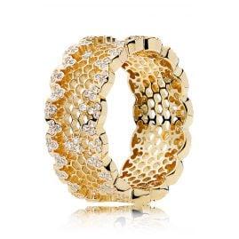 Pandora 167100CZ Shine Ladies' Ring Honeycomb Lace