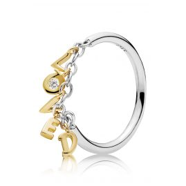 Pandora 167799CZ Shine Ladies Ring Loved Script