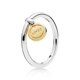 Pandora 167823 Shine Ladies Ring Medallion of Love