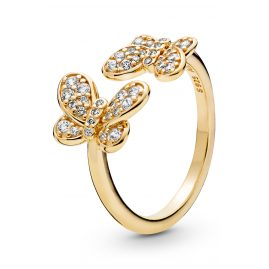 Pandora 167913CZ Shine Ladies´ Ring Dazzling Butterflies