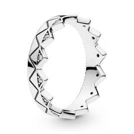 Pandora 198033CZ Damen-Ring Exotische Krone Silber