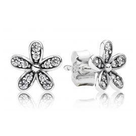 Pandora 290570CZ Damen-Ohrringe Glanzvolles Gänseblümchen