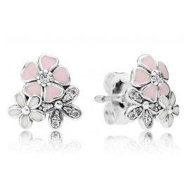 Pandora 290686ENMX Stud Earrings Poetic Blooms