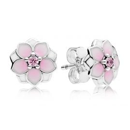 Pandora 290739PCZ Stud Earrings Magnolia Bloom