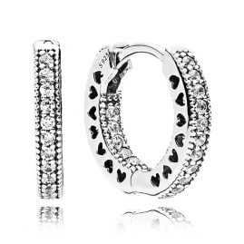 Pandora 296317CZ Earrings Eternal Hearts