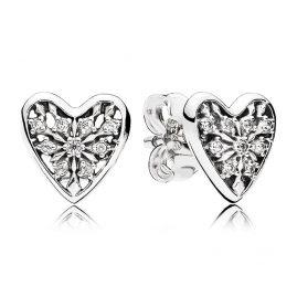 Pandora 296368CZ Ladies Earrings Hearts of Winter