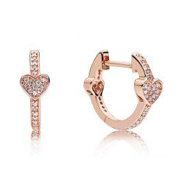 Pandora 287290CZ Rose Ladies' Earrings Alluring Heart
