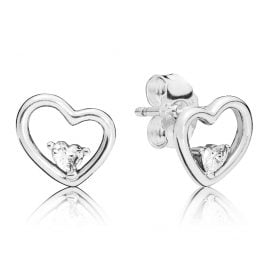 Pandora 297813CZ Ohrstecker Asymmetric Hearts of Love