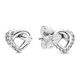 Pandora 298019CZ Ladies´ Stud Earrings Knotted Hearts