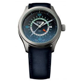 traser H3 107035 Mens Watch P59 Aurora GMT Blue Leather Strap