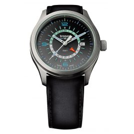 traser H3 107231 Mens Watch P59 Aurora GMT Anthracite Leather Strap