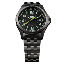 traser H3 107869 Men´s Watch P67 Officer Pro Gunmetal Black/Lime