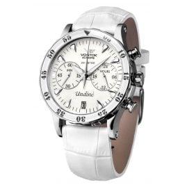 Vostok Europe VK64-515A524 Ladies Watch with 3 Straps White