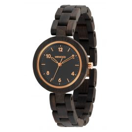 WeWood WW38001 Damen-Uhr Daphne Black Rough Rose