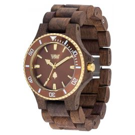 WeWood WW57002 Holz-Herrenuhr Date MB Choco Rough Brown