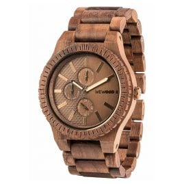 WeWood WW30004 Multifunktion Holzuhr Kos Nut Bronze
