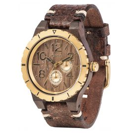 WeWood WW59001 Herrenuhr Kardo MB Choco/Gold