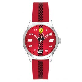 Scuderia Ferrari 0860001 Kinderuhr Pitlane Rot