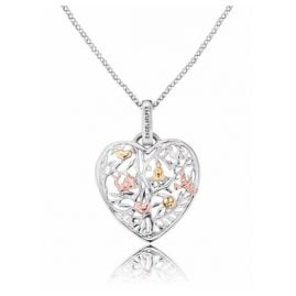 Engelsrufer ERN-HEARTTREE-TRICO Necklace with Tree of Life Heart Pendant