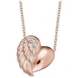 Engelsrufer ERN-LILHEARTWING-R Damen-Halskette Herzflügel Rosé