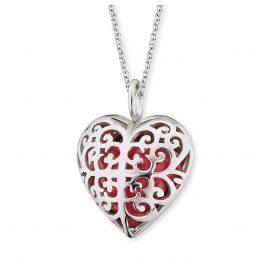 Engelsrufer ERN-05-HEART-S Damenhalskette mit Herz-Anhänger Rot