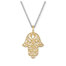Engelsrufer ERN-LILHAND-G Ladies´ Necklace Hand of Fatima Gold-Tone