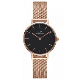Daniel Wellington DW00100217 Ladies Watch Classic Petite Melrose Rose/Black 28