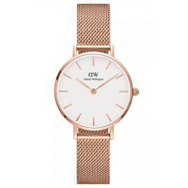 Daniel Wellington DW00100219 Ladies Watch Classic Petite Melrose Rose/White 28