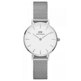 Daniel Wellington DW00100220 Ladies Watch Classic Petite Sterling White 28