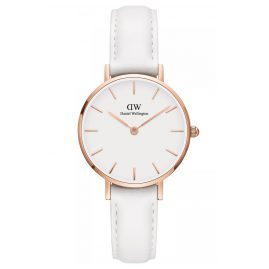 Daniel Wellington DW00100249 Ladies Watch Classic Petite Bondi White 28