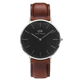 Daniel Wellington DW00100130 Herrenuhr St Mawes Silber 40 mm