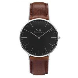 Daniel Wellington DW00100131 Herrenuhr Bristol Silber 40 mm