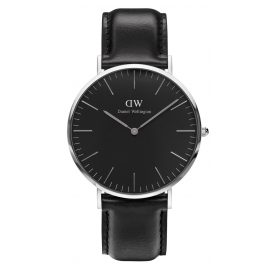 Daniel Wellington DW00100133 Herrenuhr Sheffield Silber 40 mm