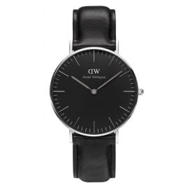 Daniel Wellington DW00100145 Damenuhr Sheffield Silber 36 mm
