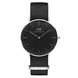 Daniel Wellington DW00100151 Damenuhr Cornwall Silber 36 mm