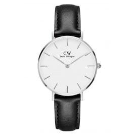 Daniel Wellington DW00100186 Damenuhr Classic Petite Sheffield Weiß/Silber 32 mm