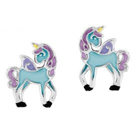 Prinzessin Lillifee 2013159 Einhorn Blue Kinder-Ohrstecker