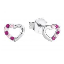 Prinzessin Lillifee 2024375 Silber Herz-Ohrringe für Mädchen