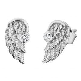 Herzengel HEE-WING-ZI Kinder-Ohrringe Engelsflügel Zirkonia