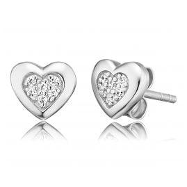 Herzengel HEE-HEART02-ZI-ST Silber Kinder-Ohrringe Herz