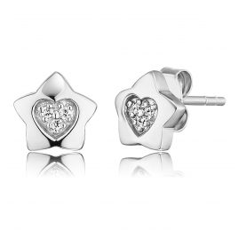 Herzengel HEE-HEARTSTAR-ZI-ST Kinder-Ohrringe Stern mit Herz