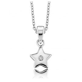 Herzengel HEN-STAR-ZI Silver Children´s Necklace Star