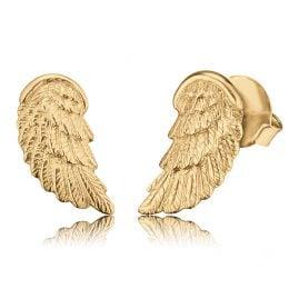 Herzengel HEE-WING-G9K Kinder-Ohrstecker Flügel Gold