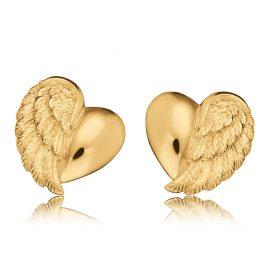 Herzengel HEE-HEARTWING-G9K Kinder-Ohrstecker mit Herz-Flügel