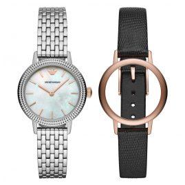 Emporio Armani AR80020 Watch Set for Ladies