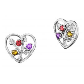 Julie Julsen JJER0239.1 Silver Stud Earrings Heart