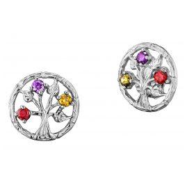 Julie Julsen JJER0254.1 Silver Ladies' Earrings Tree of Life