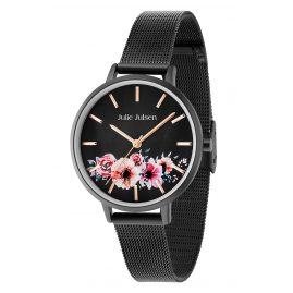 Julie Julsen JJW20BLKME Damenuhr Flower All Black