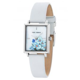 Julie Julsen JJW102SL-4 Ladies' Wristwatch Flowers White