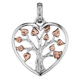 Julie Julsen JJPE0236.8 Chain Pendant Crystal Tree Heart Two-Colour S